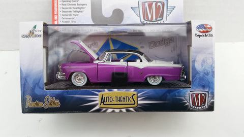 M2 Machines Auto-Thentics, Release 30, 1955 Dodge Royal Lancer, Black Roof