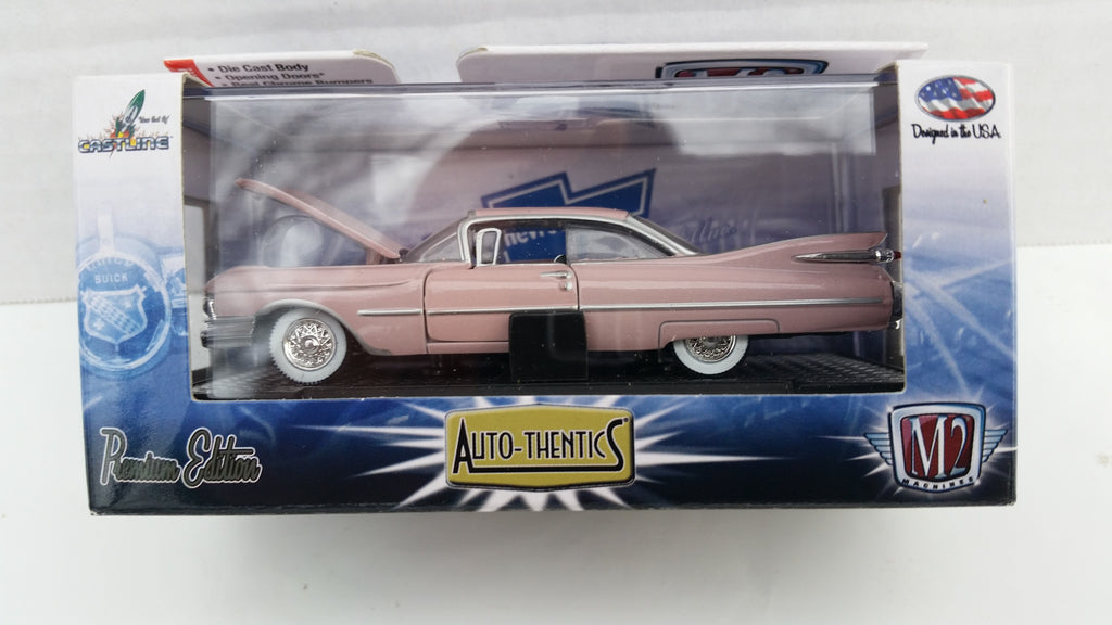 M2 Machines Auto-Thentics, Release 30, 1959 Cadillac Series 62, Pink Roof