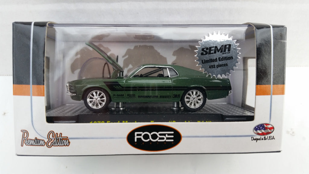 "M2 Machines SEMA 2012,  Foose 1970 Ford Mustang ""Gambler 514"", Green"
