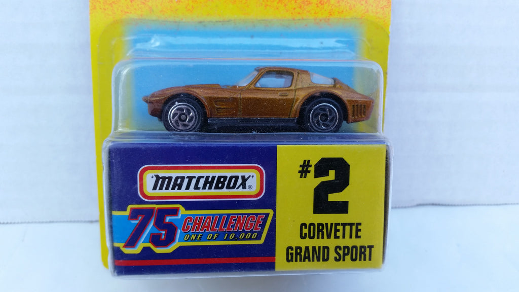 Matchbox 75 Challenge Gold Vehicle, #02 Corvette Grand Sport