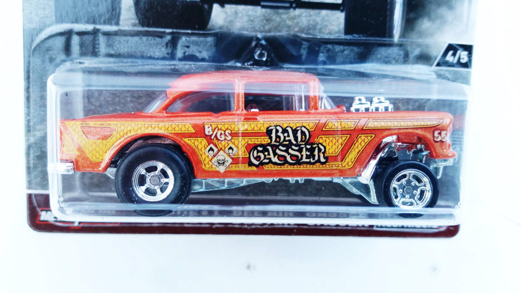 Hot Wheels Car Culture Hw Redliners 55 Chevy Bel Air Gasser Mve