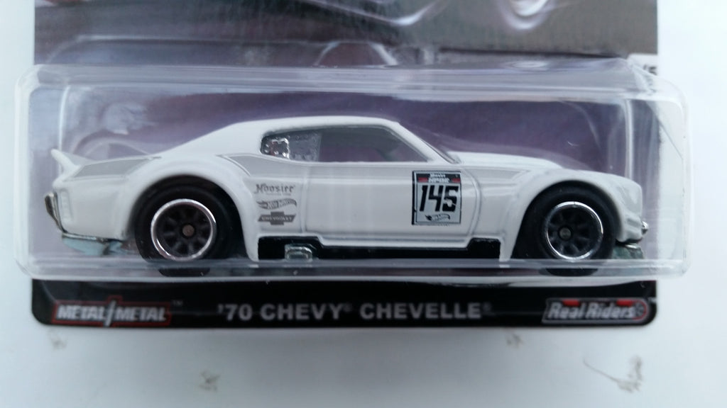 Hot Wheels Car Culture, Track Day, '70 Chevy Chevelle - Damaged Blister