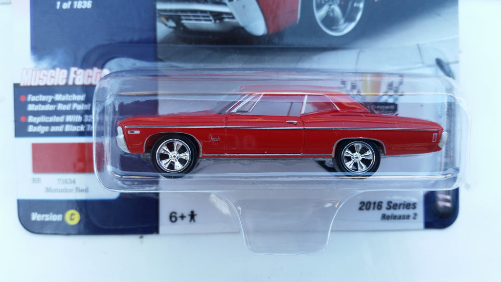 Johnny Lightning Muscle Cars 2016, Release 2C, 1968 Chevy Impala