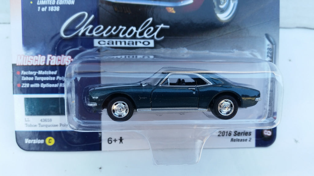 Johnny Lightning Muscle Cars 2016, Release 2C, 1967 Chevy Camaro Z28