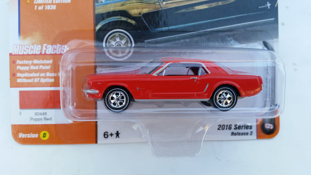 Johnny Lightning Muscle Cars 2016, Release 2D, 1965 Ford Mustang