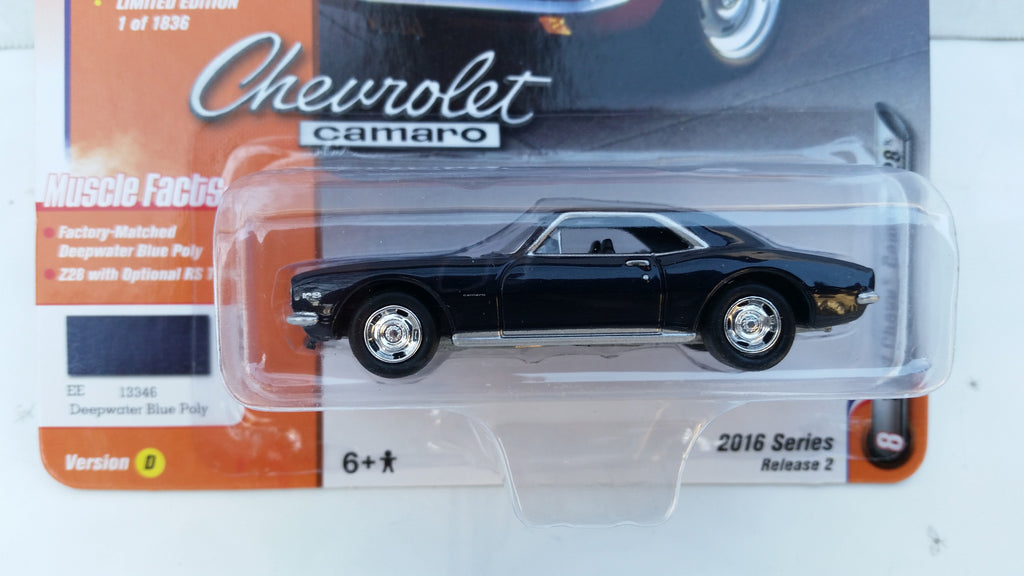 Johnny Lightning Muscle Cars 2016, Release 2D, 1967 Chevy Camaro Z28
