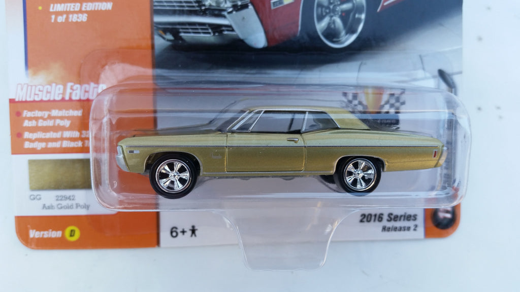 Johnny Lightning Muscle Cars 2016, Release 2D, 1968 Chevy Impala