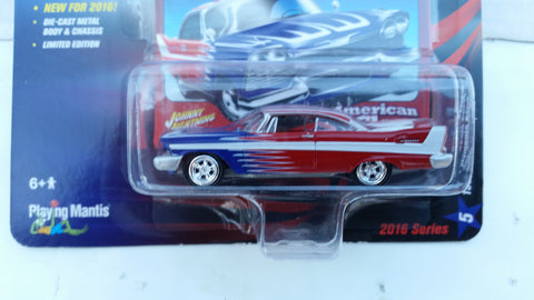 Johnny Lightning Street Freaks 2016, Release 1A, 1958 Plymouth Belvedere, American Glory