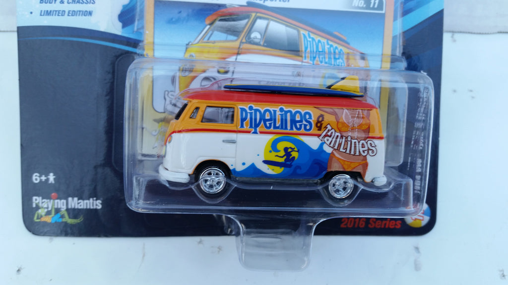 Johnny Lightning Street Freaks 2016, Release 2A, 1964 VW Type 2 Transporter, Surf Rods