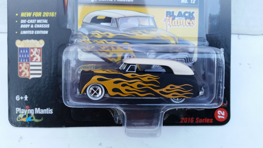 Johnny Lightning Street Freaks 2016, Release 2A, George Barris Phaeton, Black with Flames