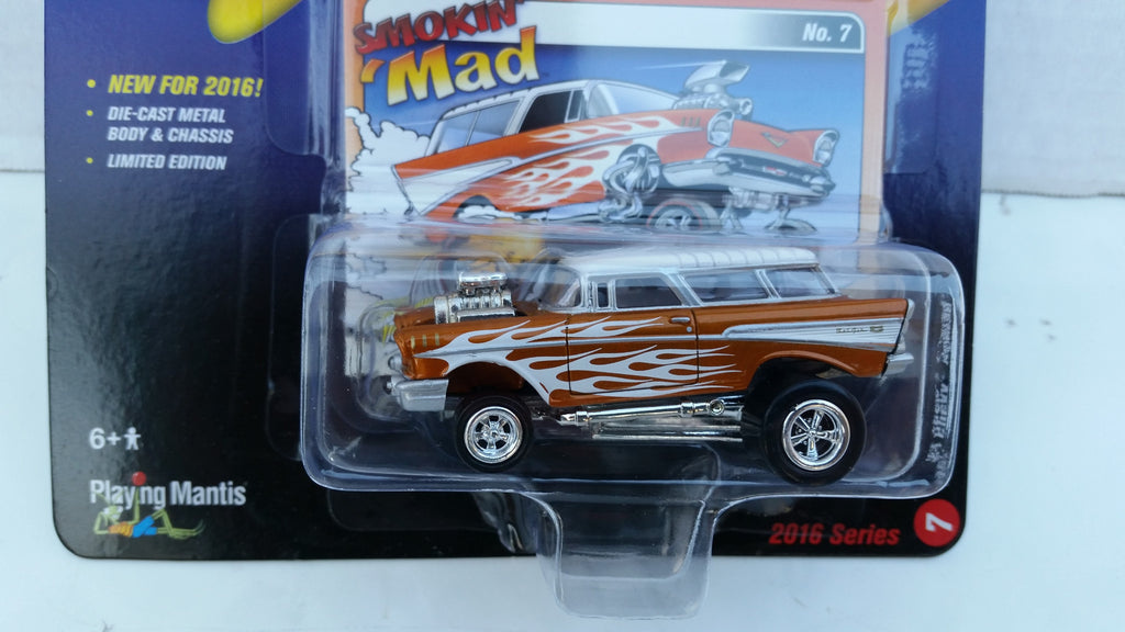 Johnny Lightning Street Freaks 2016, Release 2A, 1957 Chevy Nomad, Zingers