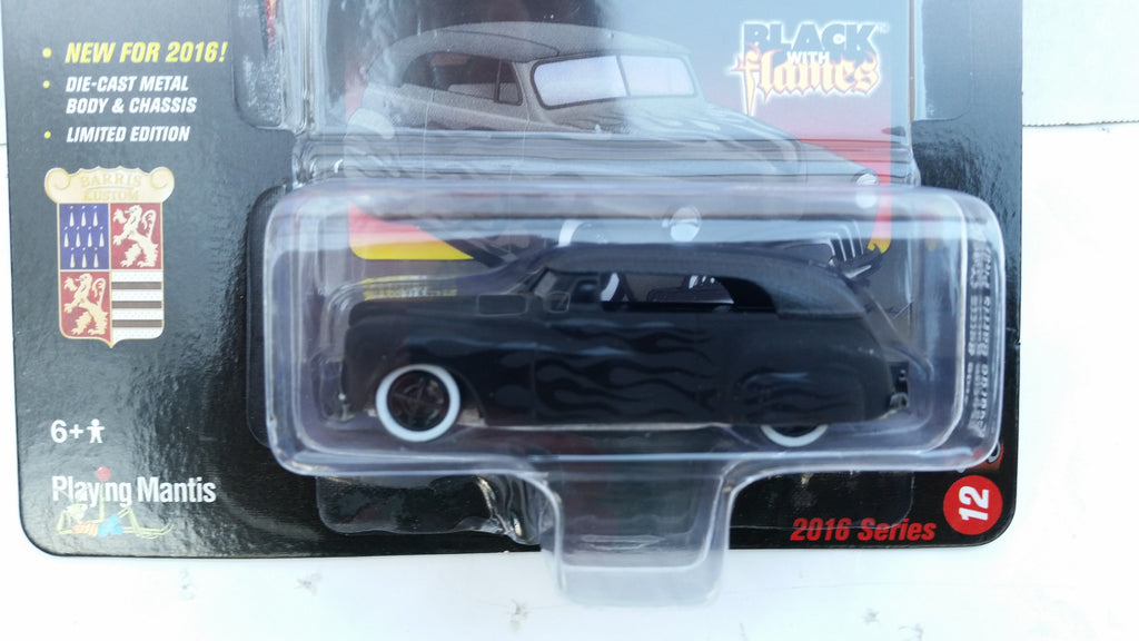 Johnny Lightning Street Freaks 2016, Release 2B, George Barris Phaeton, Black with Flames
