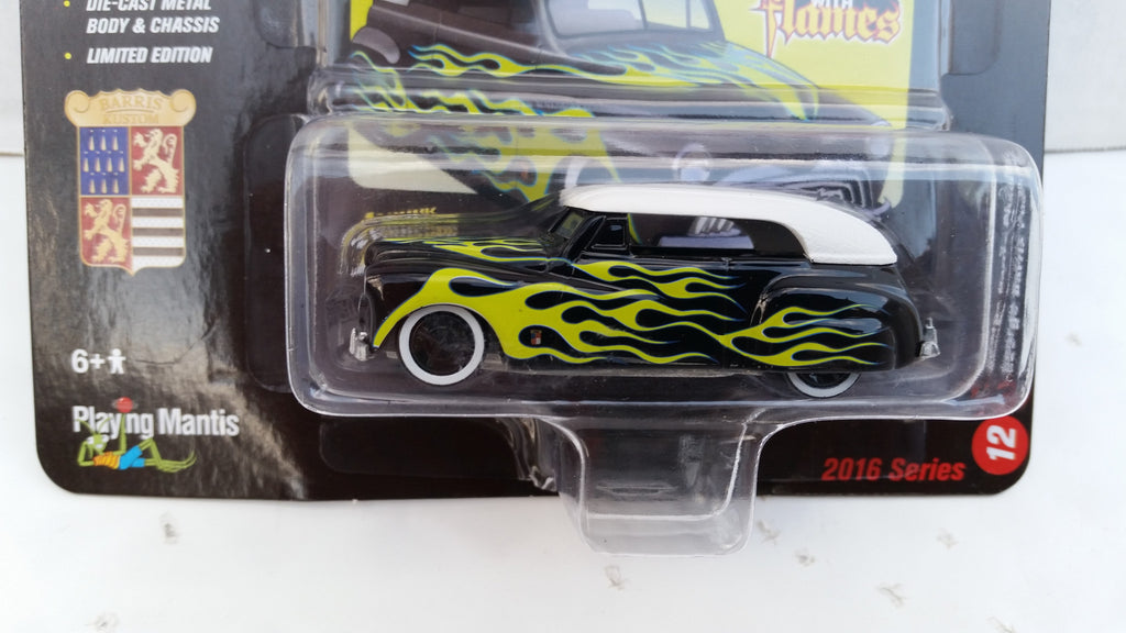 Johnny Lightning Street Freaks 2016, Release 2C, George Barris Phaeton, Black with Flames