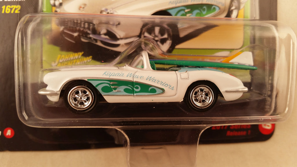 Johnny Lightning Street Freaks 2017, Release 1A, 1958 Corvette, Surf Rods