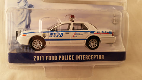 Greenlight Hobby Exclusive, 2011 Ford Police Interceptor, New York City Police Department Auxiliary with Decal Sheet