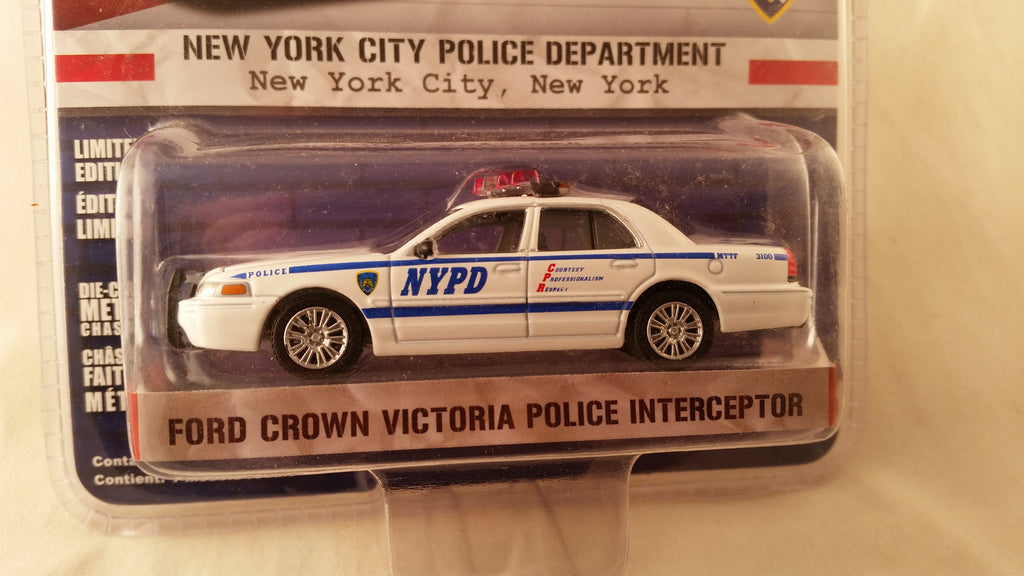 Greenlight Hot Pursuit, Series 12, Ford Crown Victoria Police Interceptor, New York City Police Department
