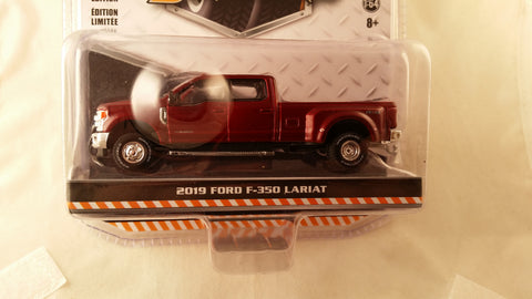 Greenlight Dually Drivers, Series 1, 2019 Ford F-350 Lariat - Maroon