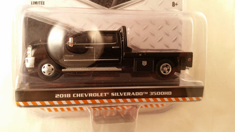 Greenlight Dually Drivers, Series 1, 2018 Chevrolet Silverado 3500HD - Black