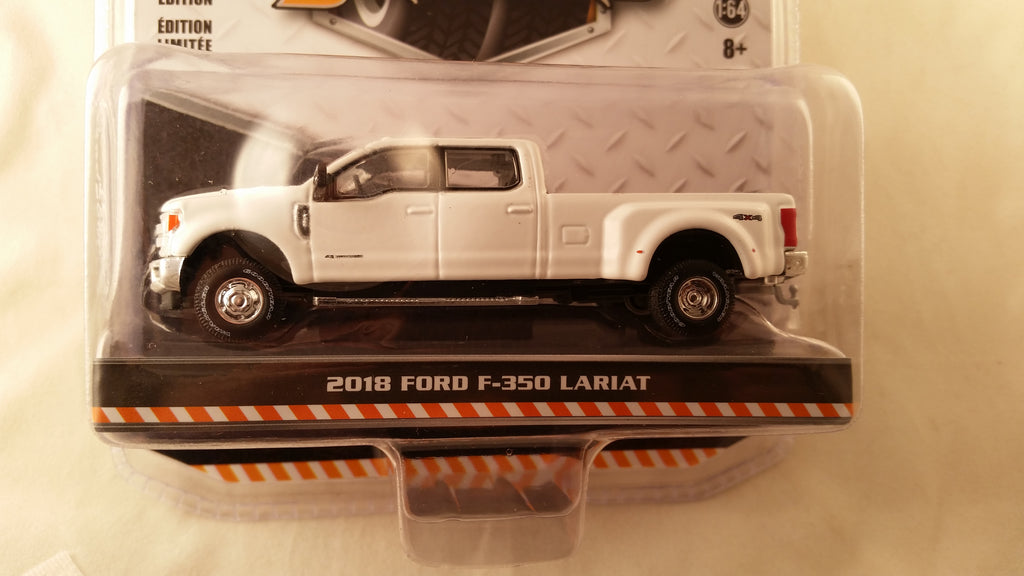 Greenlight Dually Drivers, Series 1, 2019 Ford F-350 Lariat - White