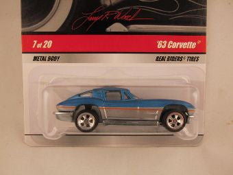 Hot Wheels Larry's Garage 2009, '63 Corvette, Blue/Silver