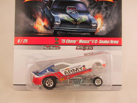 Hot Wheels Drag Strip Demons 2010, '75 Chevy Monza F/C Snake/Army