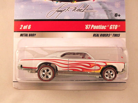 Hot Wheels Larry's Garage 2009, '67 Pontiac GTO, Silver with Flames, Holiday