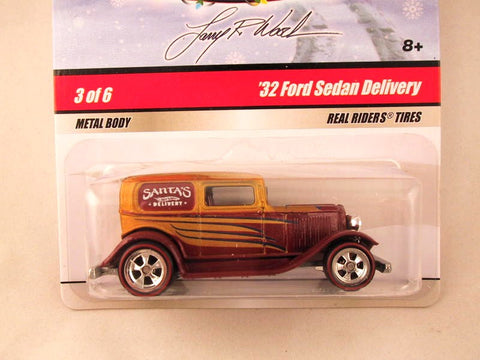 Hot Wheels Larry's Garage 2009, '32 Ford Sedan Delivery, Yellow/Brown, Holiday