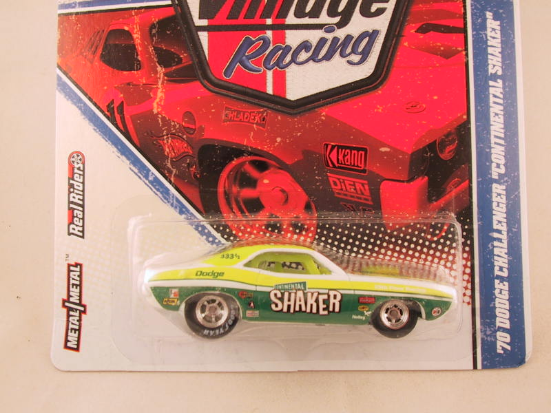"Hot Wheels Vintage Racing, '70 Dodge Challenger ""Continental Shaker"""