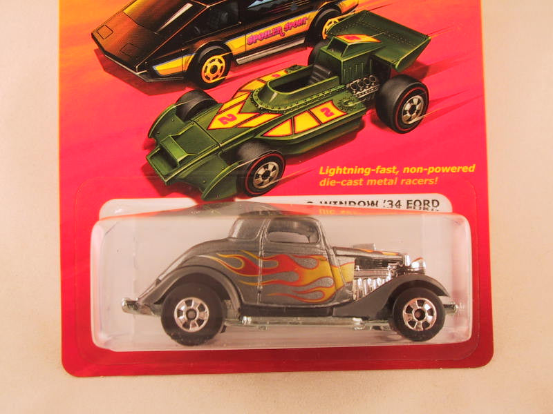 Hot Wheels Hot Ones 3 Window '34 Ford - Damaged Card