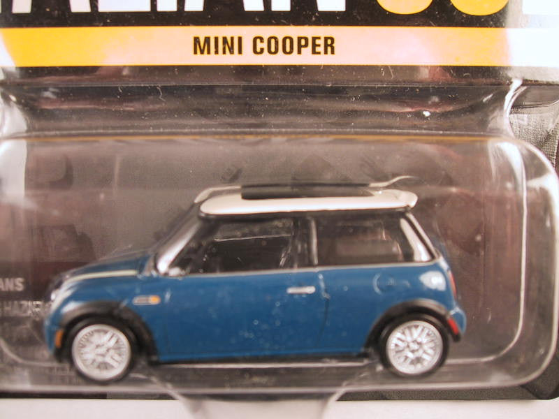 Johnny Lightning Hollywood on Wheels, Release 4, Mini Cooper, Blue