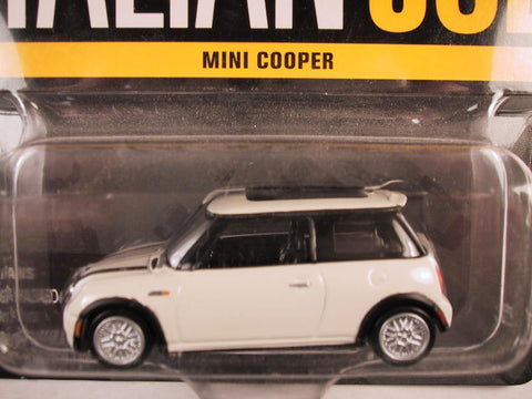 Johnny Lightning Hollywood on Wheels, Release 4, Mini Cooper, White