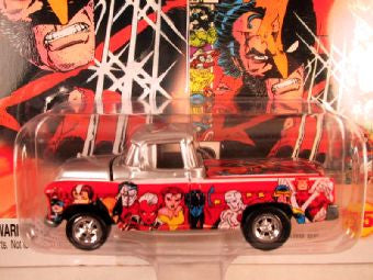 Johnny Lightning Marvel Comic Cars, Release 3, '55 Chevy Cameo Pickup, The Uncanny X-Men