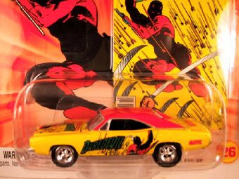 Johnny Lightning Marvel Comic Cars, Release 3, '69 Dodge Charger, Daredevil