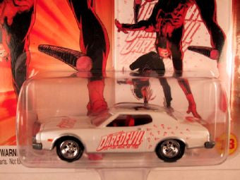 Johnny Lightning Marvel Comic Cars, Release 3, '74 Ford Torino, Daredevil