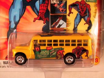 Johnny Lightning Marvel Comic Cars, Release 3, '56 Chevy Bus, The Amazing Spider-Man
