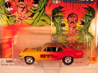 Johnny Lightning Marvel Comic Cars, Release 3, '69 Chevy Nova, The Incredible Hulk
