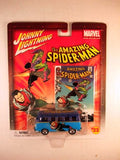 Johnny Lightning Marvel Comic Cars, Release 3, '64 VW Samba Bus, The Amazing Spiderman