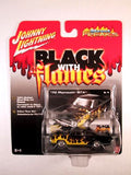 Johnny Lightning Street Freaks, Release 17, '70 Plymouth GTX, Black with Flames