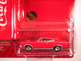 Johnny Lightning Coca Cola with Tin Box 2005, 1966 Dodge Charger