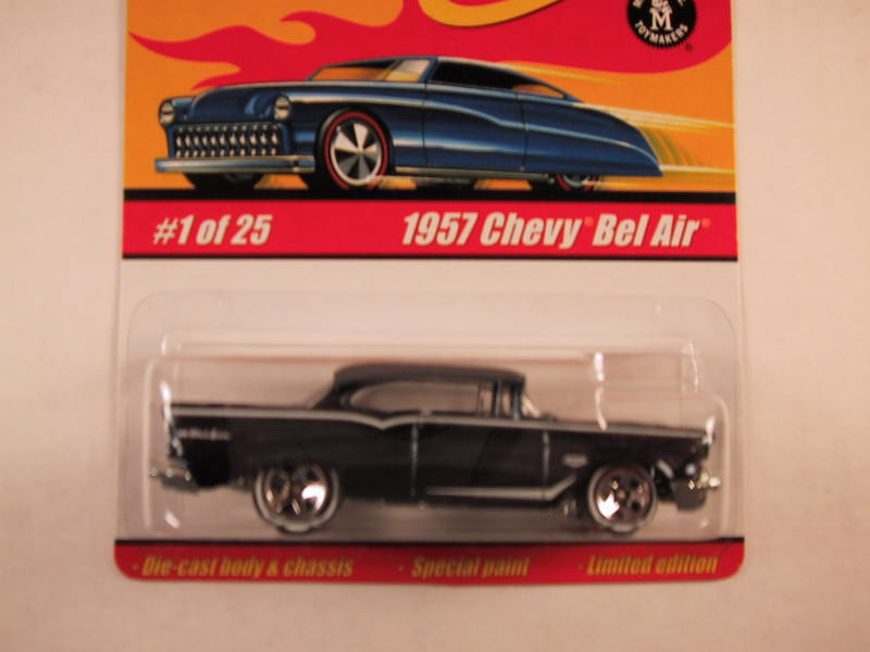 Hot Wheels Classics, Series 1, #01 1957 Chevy Bel Air, Dark Blue
