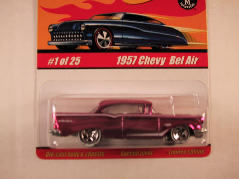 Hot Wheels Classics, Series 1, #01 1957 Chevy Bel Air, Pink