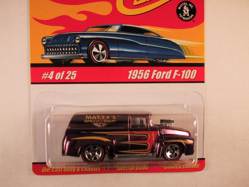 Hot Wheels Classics, Series 1, #04 1956 Ford F-100, Purple