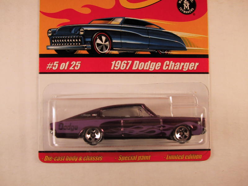 Hot Wheels Classics, Series 1, #05 1967 Dodge Charger, Purple