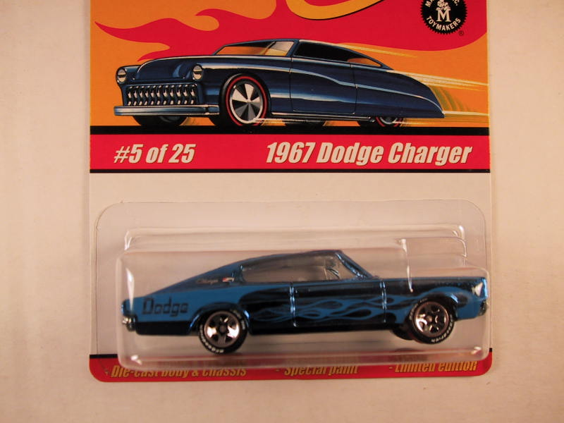 Hot Wheels Classics, Series 1, #05 1967 Dodge Charger, Blue