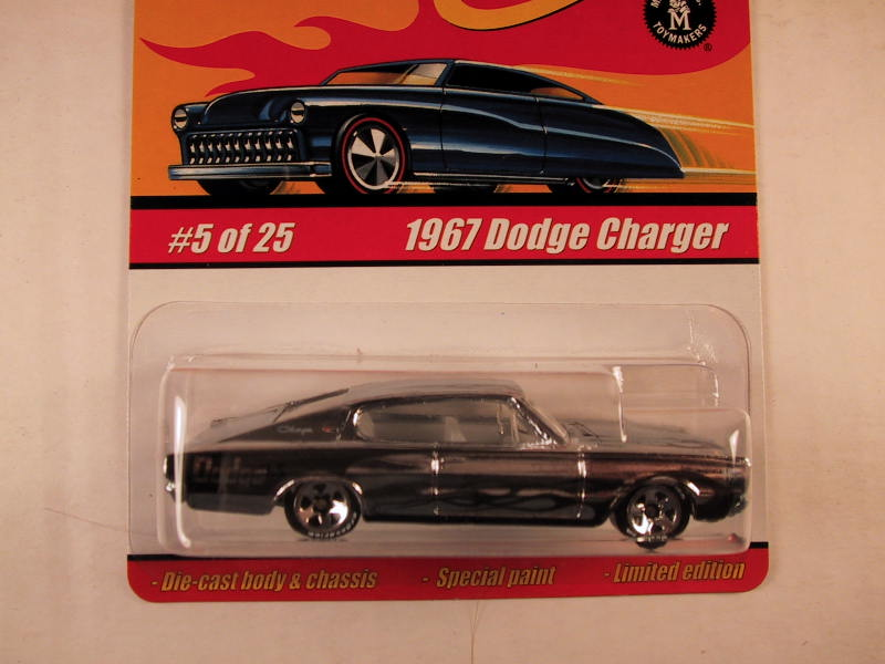 Hot Wheels Classics, Series 1, #05 1967 Dodge Charger, Chrome