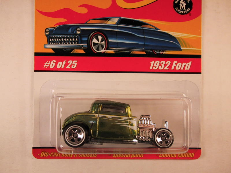Hot Wheels Classics, Series 1, #06 1932 Ford, Olive Green