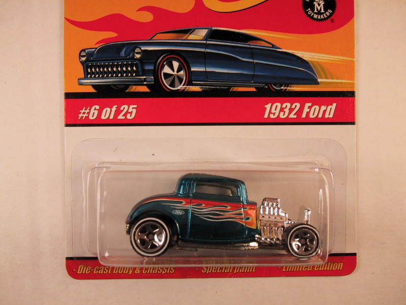 Hot Wheels Classics, Series 1, #06 1932 Ford, Blue