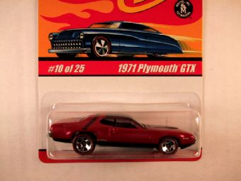 Hot Wheels Classics, Series 1, #10 1971 Plymouth GTX, Pink