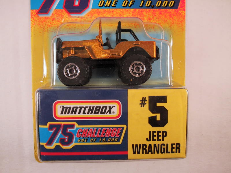Matchbox 75 Challenge Gold Vehicle, #05 Jeep Wrangler