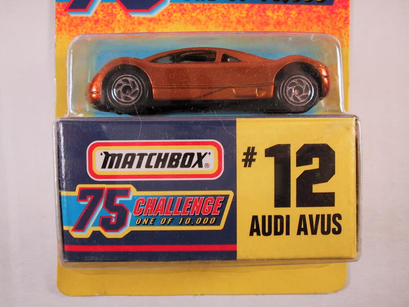 Matchbox 75 Challenge Gold Vehicle, #12 Audi Avus